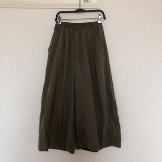 ショコラフィネローブ(chocol raffine robe)のグリーンパークス ショコラフィネローブ ガウチョパンツ(カジュアルパンツ)
