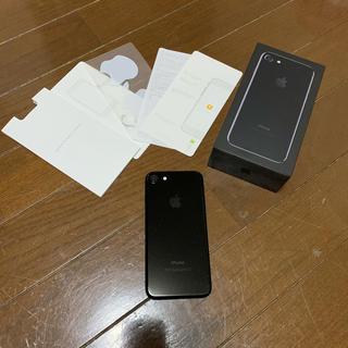 アップル(Apple)のiPhone7 本体 128 ブラック 美品(スマートフォン本体)