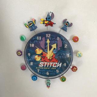 ディズニー(Disney)の値下げ❣️ディズニー スティッチ 壁掛け 時計(掛時計/柱時計)