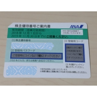 エーエヌエー(ゼンニッポンクウユ)(ANA(全日本空輸))のANA 株主優待券 1枚②(その他)