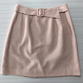 プロポーションボディドレッシング(PROPORTION BODY DRESSING)の未使用 プロポーション ボディドレッシング スカート  ピンク ベルト ツイード(ひざ丈スカート)