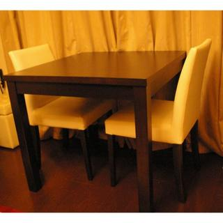 イデー(IDEE)の送料込!売切特価★格安美品!ダイニングテーブル、チェア2客セット(ダイニングテーブル)