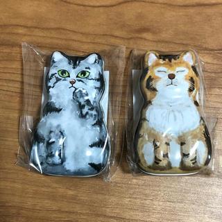 カルディ(KALDI)のKALDI カルディ 猫の日 ネコ缶 猫缶 チョコレート(小物入れ)