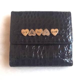 モスキーノ(MOSCHINO)の再値下げしました【USED】MOSCHINO クロコ型押し エナメル折り財布💖(財布)