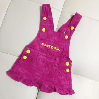 ベビードール(BABYDOLL)のBABY DOLL☆コーデュロイジャンパースカート☆80(スカート)