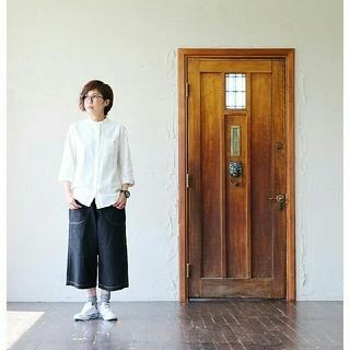 niko and... - SAIL 綿麻 バンドカラーシャツ M リネン 春物   日本製