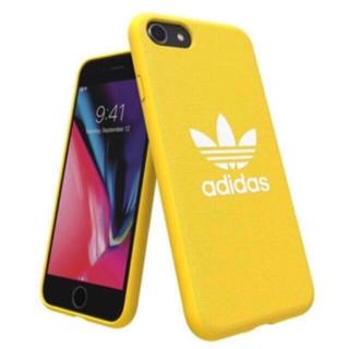 アディダス(adidas)の新品 アディダスオリジナルス iPhoneケース adidas 背面ケース 黄色(iPhoneケース)
