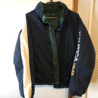 ノーティカ(NAUTICA)のnautica  ノーティカ ダウンジャケット 緑 紺 白(ダウンジャケット)
