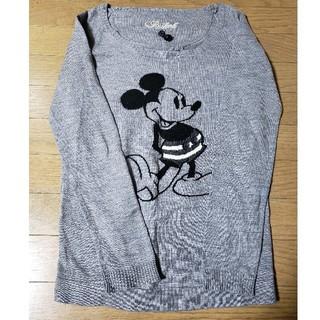 ディズニー(Disney)の薄手ニット ミッキー(ニット/セーター)