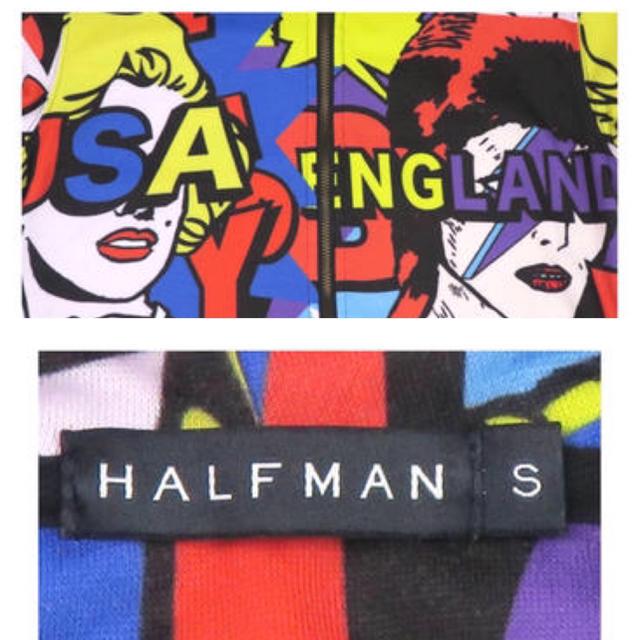 HALFMAN(ハーフマン)のHALFMAN(ハーフマン) 総柄パーカー メンズのトップス(パーカー)の商品写真