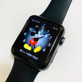 アップルウォッチ(Apple Watch)のApple Watch Series 2 42mm ブラックスポーツバンド 中古(腕時計(デジタル))