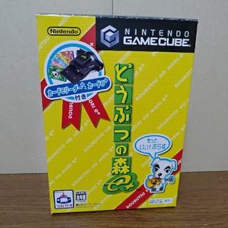 ニンテンドーゲームキューブ(ニンテンドーゲームキューブ)のどうぶつの森e+ GBAケーブル ディスク極美品 カード未開封(家庭用ゲームソフト)