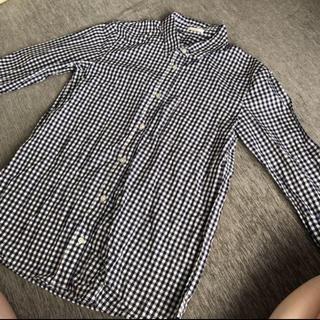 ジーユー(GU)のGU   ギンガムチェックシャツ  サイズ S(シャツ/ブラウス(長袖/七分))