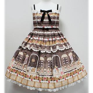 アンジェリックプリティー(Angelic Pretty)の新品タグ付きSweet Cream Houseハイウエストジャンパースカート(ひざ丈ワンピース)