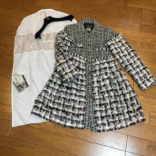 シャネル(CHANEL)の美品 シャネル コート ロングコート シーズンオフ価格 10月より値上げします(ロングコート)