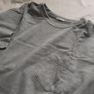 ジーユー(GU)のGU Tシャツ グレー(Tシャツ(半袖/袖なし))