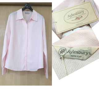 アリスバーリー(Aylesbury)の【未使用】洗える♪  アリスバーリー コットンシャツ ピンク Lサイズ(シャツ/ブラウス(長袖/七分))
