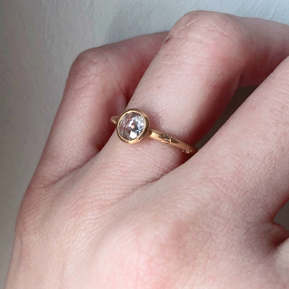 ティファニー(Tiffany & Co.)のダイヤ リング ローズカット 0.4ct  22金(リング(指輪))