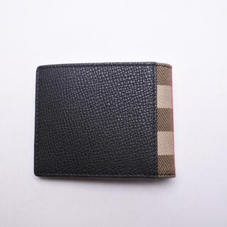 バーバリー(BURBERRY)のバーバリー プローサム 二つ折り 財布 未使用 ブラック ノバチェック 札入れ (折り財布)