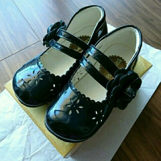 キャサリンコテージ(Catherine Cottage)の美品 キャサリンコテージ 18 フォーマルシューズ 女の子 フォーマル靴 黒 (フォーマルシューズ)