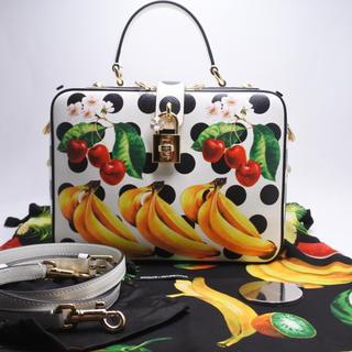 ドルチェアンドガッバーナ(DOLCE&GABBANA)のドルチェ&ガッバーナ 2WAYバッグ フルーツ ホワイト レディースハンドバッグ(ハンドバッグ)