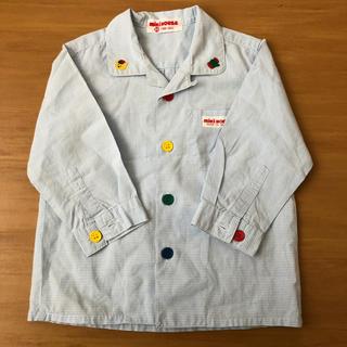 ミキハウス(mikihouse)のミキハウス レトロ アニマル 刺繍 シャツ(シャツ/カットソー)