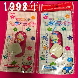 ハローキティ(ハローキティ)のレア1998年 ハローキティ マスコットキーライト 日本製(キャラクターグッズ)
