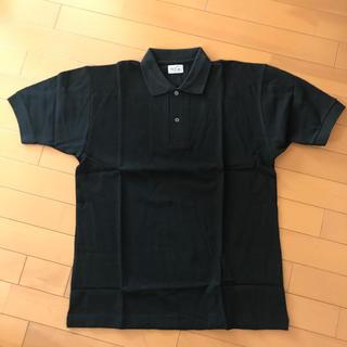 ムジルシリョウヒン(MUJI (無印良品))の【未使用品】ポロシャツ 黒 紳士 L(ポロシャツ)