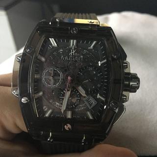 ウブロ(HUBLOT)のウブロ 時計 スケルトン 時計 箱付き メンズ(腕時計(アナログ))