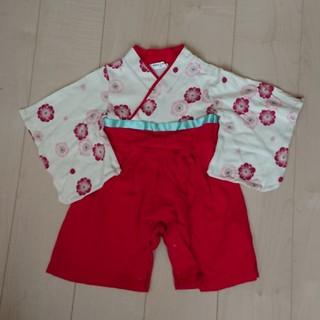 ベルメゾン(ベルメゾン)の袴 ロンパース 80(和服/着物)