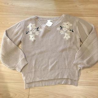 アベイル(Avail)のアベイル イング 百合花刺繍ニット 長袖ニット セーター Mサイズ 新品(ニット/セーター)