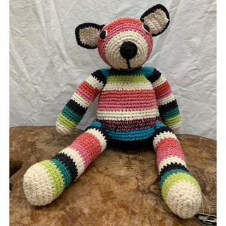 クマぬいぐるみ  手編みコットンベアー(ぬいぐるみ)