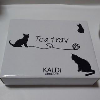 カルディ(KALDI)のカルディ 猫の日 ティートレイ(収納/キッチン雑貨)