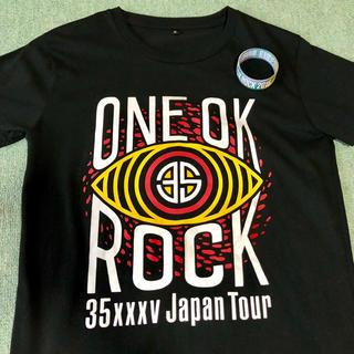 ワンオクロック(ONE OK ROCK)のONE OK ROCK ライブTシャツ ラバーバンド☆最終値下げ!1回着用のみ(Tシャツ(半袖/袖なし))