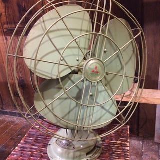 ミツビシデンキ(三菱電機)の三菱 ◆ アンティーク扇風機 ◆ 補修済 ◆ 可動品(扇風機)