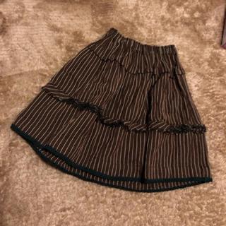 キャラメルベビー&チャイルド(Caramel baby&child )のCARAMEL ストライプギャザースカート ♡(スカート)