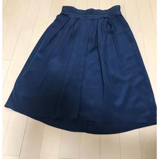デミルクスビームス(Demi-Luxe BEAMS)のスカート ネイビー (ひざ丈スカート)