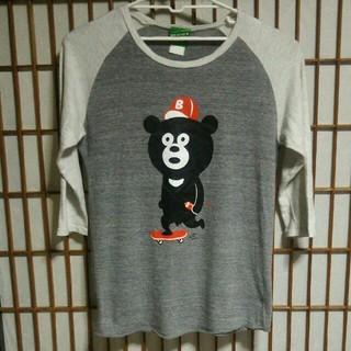 ビームス(BEAMS)のビームスT 七分袖Tシャツ 熊 プリント ラグラン BEAMS 古着屋 アメカジ(Tシャツ/カットソー(七分/長袖))