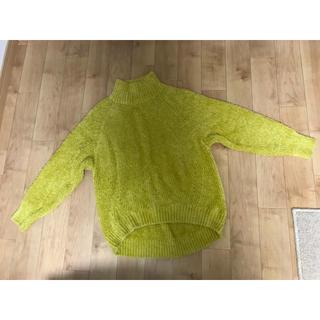 ジーユー(GU)の黄色のニット(ニット/セーター)