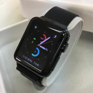 アップルウォッチ(Apple Watch)のApple Watch Black Stainless Steel 38mm(その他)