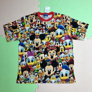 ディズニー(Disney)のディズニー 総柄 Tシャツ M ミッキー ミニー ドナルド デイジー(Tシャツ(半袖/袖なし))