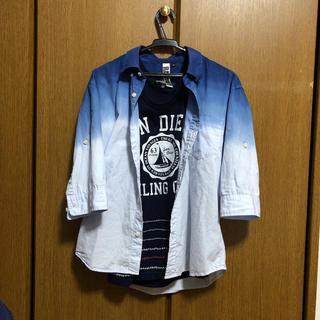 ジーユー(GU)のメンズ    tシャツとタンクトップ(Tシャツ/カットソー(半袖/袖なし))