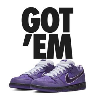 ナイキ(NIKE)のConcepts x Nike SB Dunk purple lobster(スニーカー)
