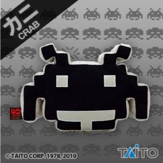 タイトー(TAITO)の新品 送込 タイトー限定 スペースインベーダー ぬいぐるみ カニ 黒 非売品(ぬいぐるみ)