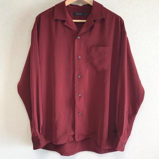 レイジブルー(RAGEBLUE)のRAGEBLUE オープンカラーシャツ 美品 ボルドー Lサイズ 早い者勝ち!!(シャツ)