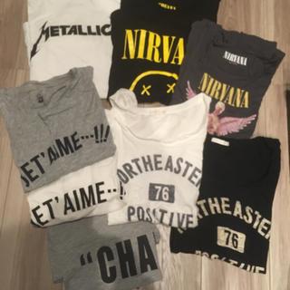 ジーユー(GU)のGU Tシャツ8枚セット まとめ売り METALLICA NIRVANA(Tシャツ(半袖/袖なし))