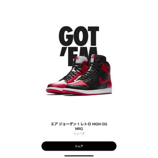 ナイキ(NIKE)のAIR JORDAN1 HOMAGE TO HOME 25.5cm(スニーカー)
