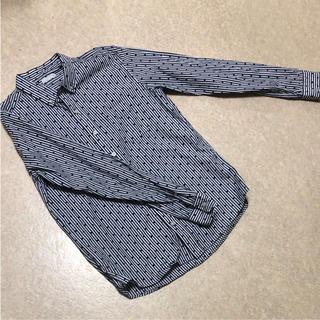 ジーユー(GU)の柄シャツ  水玉  ボーダー  GU(シャツ/ブラウス(長袖/七分))
