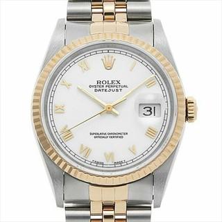 ロレックス(ROLEX)のロレックス デイトジャスト 16233 ホワイト/ローマ メンズ 腕時計(腕時計(アナログ))