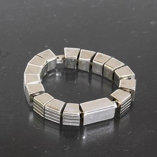 グッチ(Gucci)のグッチ GUCCI ロゴ スクエア チェーン リング 18号 SV925 仕上済(リング(指輪))